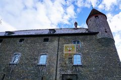 Old castle in bulle in gruyere in south switzerland stock photo