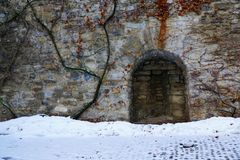 Old castle in bulle in gruyere in south switzerland stock image
