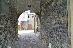 Old castle in bulle in gruyere in south switzerland royalty free stock photos