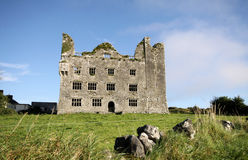 Old castle in The Burren, Ireland Royalty Free Stock Photos