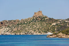 Old Castle of the Cabrera. Archipelago Maritime-Terrestrial National Park, Spain royalty free stock photography