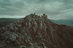 Old castle of Calascio royalty free stock photo