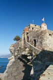 Old castle in Camogli, Italy Stock Photos