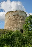 Old Castle (castle on the hill). Izborsk fortress, Pskov region, Russia, Europe. Photo of the old fortress tower against the blue sky. The Izborsk Royalty Free Stock Photography