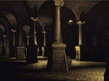 Old castle cellar Stock Photos