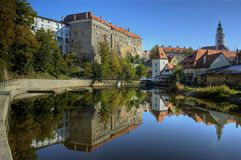 Old castle in Cesky Krumlov royalty free stock photography