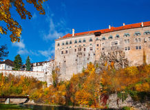 Old castle in Cesky Krumlov Stock Images