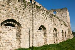 Old Golski fortress in Chortkiv, Ukraine. Old castle in Chortkiv was build by Golski in 1610, Ternopil region, Ukraine Royalty Free Stock Image