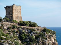 Old castle on the cliff Royalty Free Stock Photo