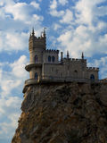 Old castle on cliff Stock Photography