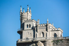 The old castle on a cliff. Royalty Free Stock Photos