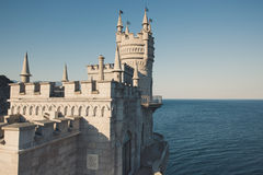 The old castle on a cliff. Stock Photo