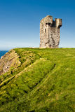 Old castle on Cliffs of Moher in Ireland. Royalty Free Stock Photography