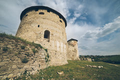 Old castle in cloudy day Stock Photo
