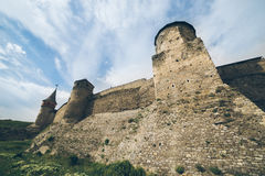 Old castle in cloudy day Royalty Free Stock Photography
