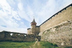 Old castle in cloudy day Royalty Free Stock Photo