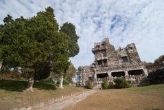 Old Castle in Connecticut. Gillette Castle.  Stock Photos