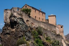 Old castle in Corte Stock Photography