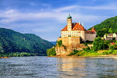Old castle on Danube river, Austria Royalty Free Stock Photos