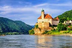 Old castle on Danube river, Austria. Schonbuhel Castle on the Danube river in Austria royalty free stock photos