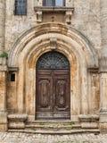Old castle door. Old church door in Italy Stock Photography