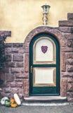 The old castle door in Europe Stock Images