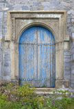 Old castle doorway. Entrance to castle with large wooden doors Royalty Free Stock Photography