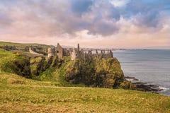 The old castle. Dunluce castle, Northern Ireland,UK Stock Photo
