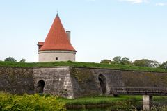 Old castle in Estonia royalty free stock photography
