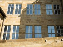 Old Castle facade in the centrum Stuttgart, Germany stock photo
