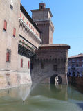 Old castle in Ferrara Stock Photos