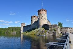 Old castle in Finland Stock Photos