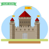 Old castle. Flat design, illustration royalty free illustration