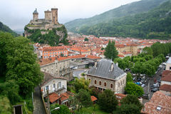 Old castle in Foix Stock Photography