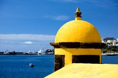 Old castle Fortaleza de Sao Tiago in Funchal Royalty Free Stock Photo