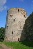 Old Castle (Fortress). Izborsk fortress, Pskov region, Russia, Europe. Photo of the old fortress tower against the blue sky.The Izborsk fortress is Royalty Free Stock Photos