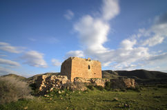 Old castle-fortress of Los Alumbres in Rodalquilar, Spain Royalty Free Stock Image