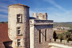 Old Castle. In France, a very old castle for high  quality tourism and wine tasting Stock Photography