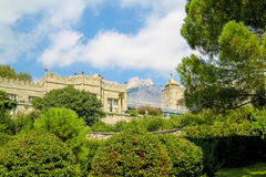Old castle in the garden Royalty Free Stock Photography
