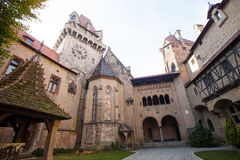 Old castle with gate and towers Stock Photography