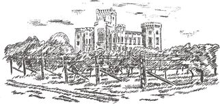 Old Castle - Hand Drawing Royalty Free Stock Images