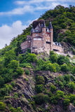 An old castle in the hillside on the Rhine Royalty Free Stock Image