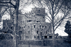 Old Castle. Historic Gillette Castile in East Haddam, Connecticut stock images