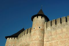 Old castle in Hotyn, Ukraine Stock Photo