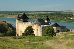 Old castle in Hotyn, Ukraine Stock Photos