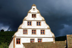 Old castle house in Andlau, Alsace Stock Images