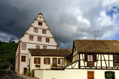 Old castle house in Andlau, Alsace Royalty Free Stock Photo