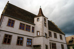 Old castle house in Andlau, Alsace Stock Photography