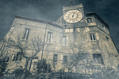 The old castle infested by ghosts. In the historic center of Subiaco, Lazio Stock Images