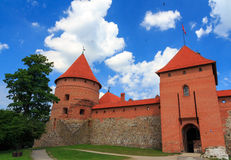 Old castle on the island, the town of Trakai, Lithuania Royalty Free Stock Photos